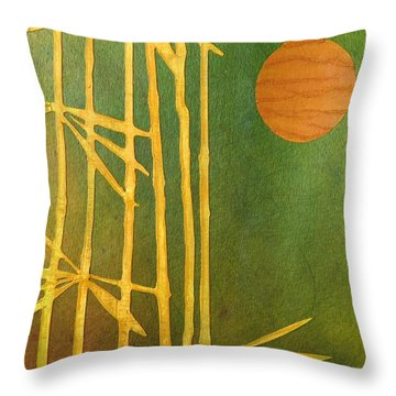 Bamboo Moon Throw Pillow