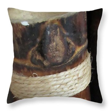 Bamboo Node On Rain Stick Throw Pillow
