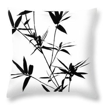 Bamboo Shadows Throw Pillow by Jenny Rainbow