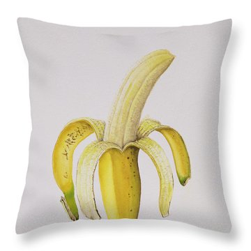 Banana Throw Pillow by Alison Cooper