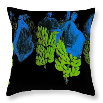 Throw Pillow featuring the photograph Banana Art by Rudi Prott
