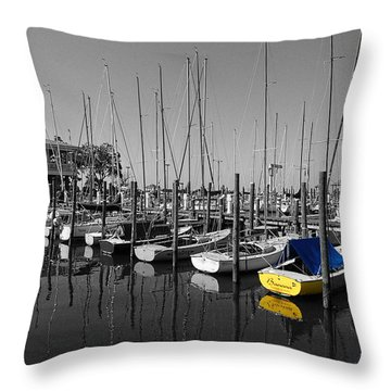 Banana Boat Throw Pillow