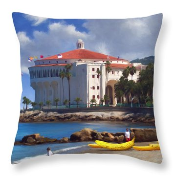 Banana Boat Throw Pillow by Snake Jagger