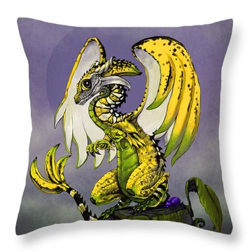 Banana Dragon Throw Pillow