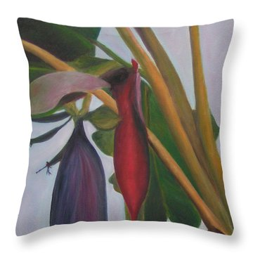 Banana Inflorescence II Throw Pillow