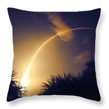 Banana Launch Throw Pillow