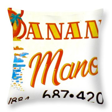 Banana Manor Throw Pillow
