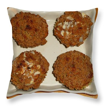 Banana Oat Crunch Muffins Throw Pillow