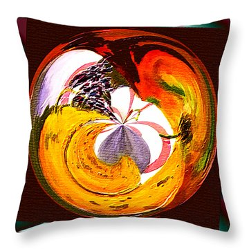 Throw Pillow featuring the painting Banana Swirl by Paula Ayers