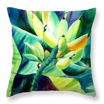 Bananas 6-12-06 Julianne Felton Throw Pillow
