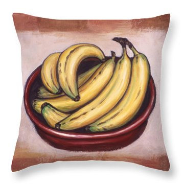 Bananas Throw Pillow by Linda Mears