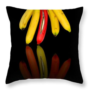 Bananas Throw Pillow by Svetlana Sewell