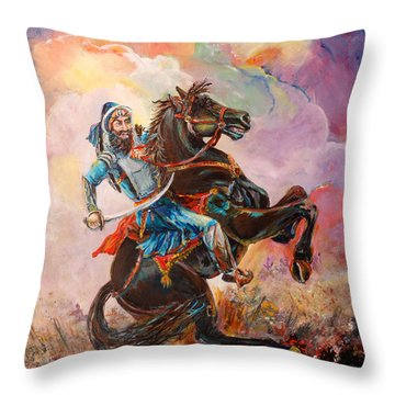 Banda Singh Bahadur Throw Pillow