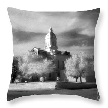 Bandera County Courthouse Throw Pillow