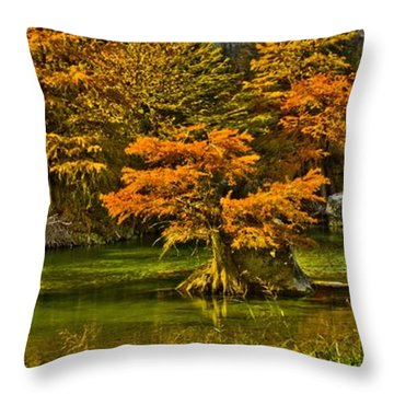 Bandera Falls On Medina River Throw Pillow