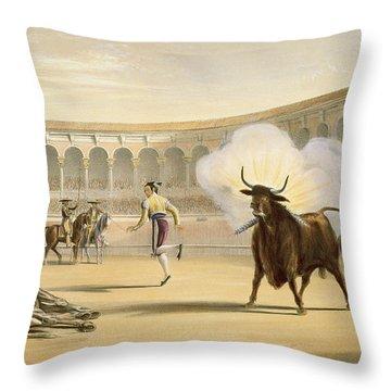 Banderillas De Fuego, 1865 Throw Pillow