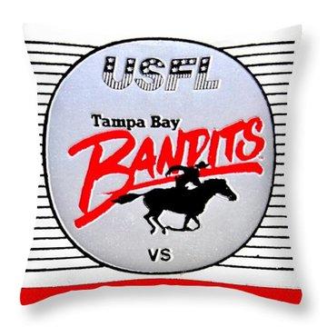 Bandit Ball Throw Pillow by Benjamin Yeager
