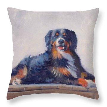 Bandit Throw Pillow by Dianne Panarelli Miller