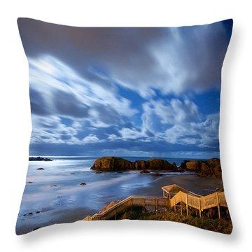 Bandon Nightlife Throw Pillow by Darren  White