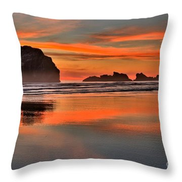 Bandon Orange Pastels Throw Pillow by Adam Jewell