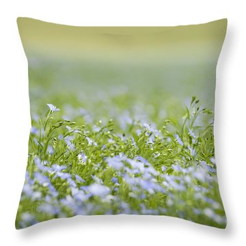 Bands Of Blue Throw Pillow by Anne Gilbert