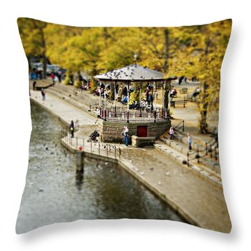 Throw Pillow featuring the photograph Bandstand In Chester by Meirion Matthias