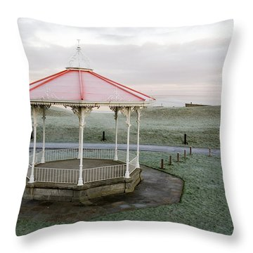 Bandstand In Winter Throw Pillow by Jeremy Voisey