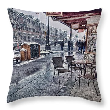 Banff Avenue Throw Pillow
