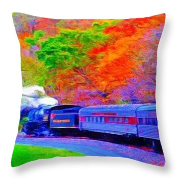 Bang Bang Choo Choo Train-a Dreamy Version Collection Throw Pillow