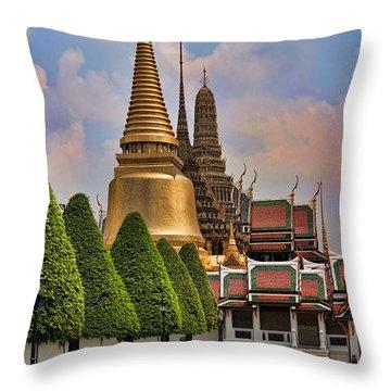 Bangkok Palace Temple 3 Throw Pillow