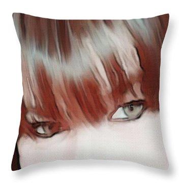 Bangs Throw Pillow
