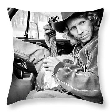 Banjo Man Throw Pillow