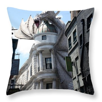Bank Guard Throw Pillow
