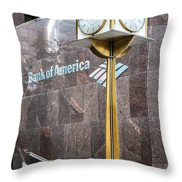 Bank Of American Building In Boston Throw Pillow