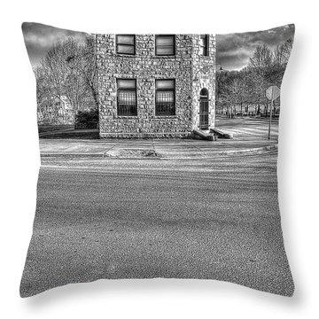 Bank Of Glen Jean Wv Throw Pillow by Dan Friend