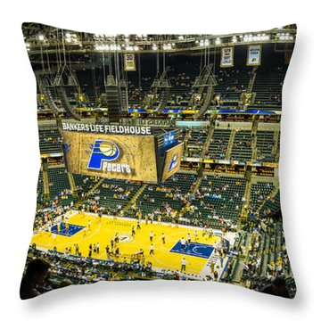 Bankers Life Fieldhouse - Home Of The Indiana Pacers Throw Pillow