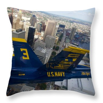 Banking Above Baltimore Throw Pillow