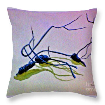 Throw Pillow featuring the painting Banksia Abstraction by Leanne Seymour