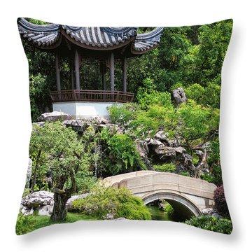 Bansi Garden Throw Pillow