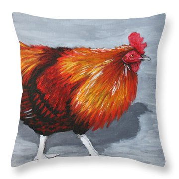 Bantam Rooster 2 Throw Pillow