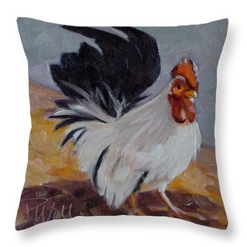 Bantam Rooster Throw Pillow