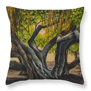 Banyan Tree Maui Throw Pillow