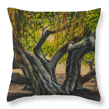 Banyan Tree Maui Throw Pillow