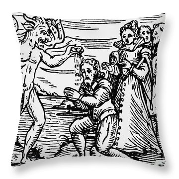 Baptism By The Devil Throw Pillow