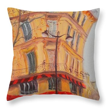 Bar 77, 2010 Oil On Canvas Throw Pillow