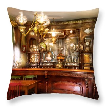 Bar - Bar And Tavern Throw Pillow by Mike Savad