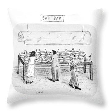 Bar Bar Throw Pillow