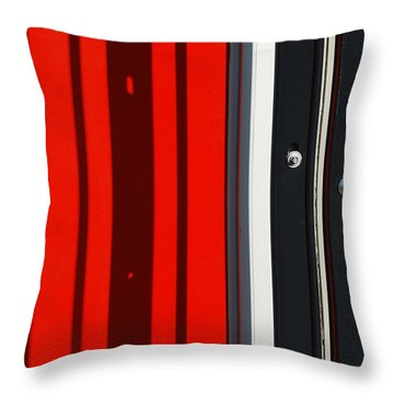 Bar Code Throw Pillow by Wendy Wilton