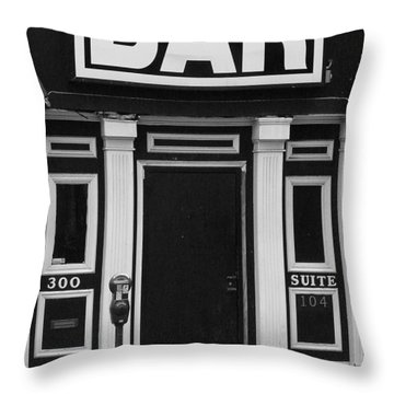 Throw Pillow featuring the photograph Bar by Rodney Lee Williams