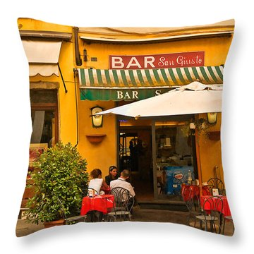 Bar San Giusto Throw Pillow